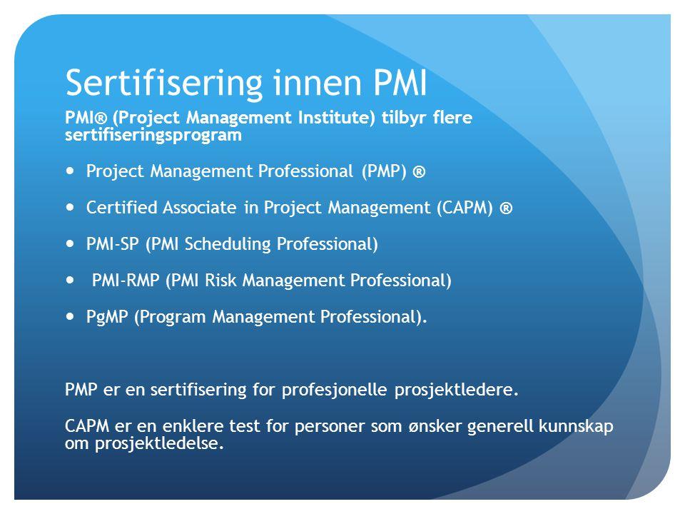 Sertifisering innen PMI