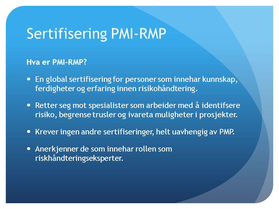 Sertifisering PMI-RMP