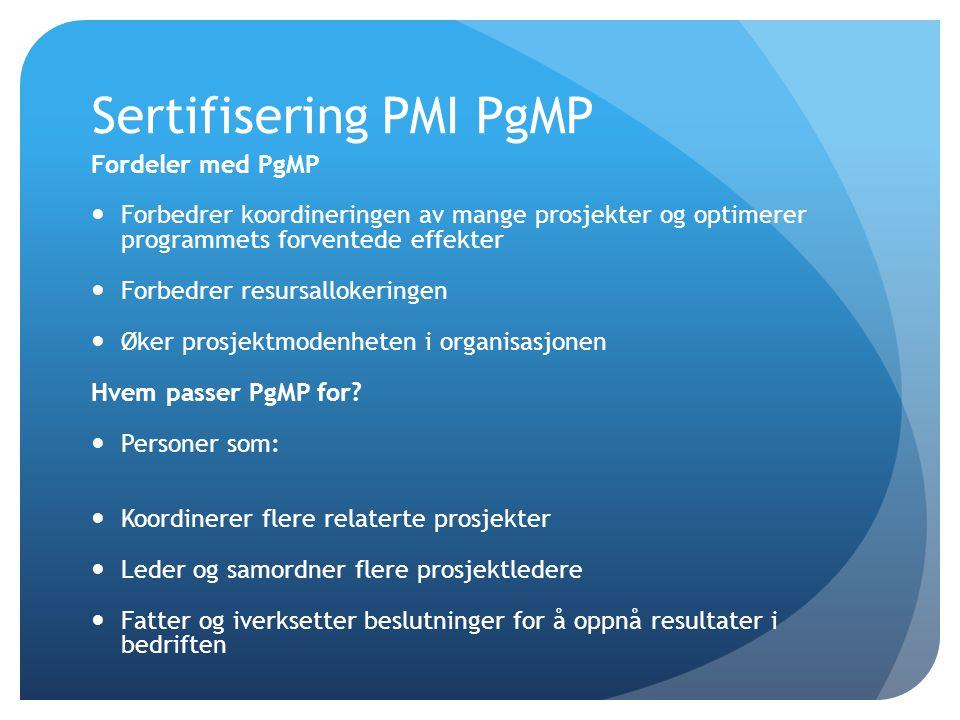 Sertifisering PMI PgMP