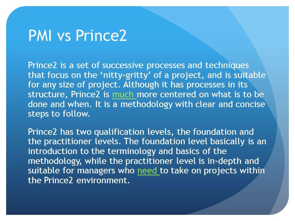 PMI vs Prince2