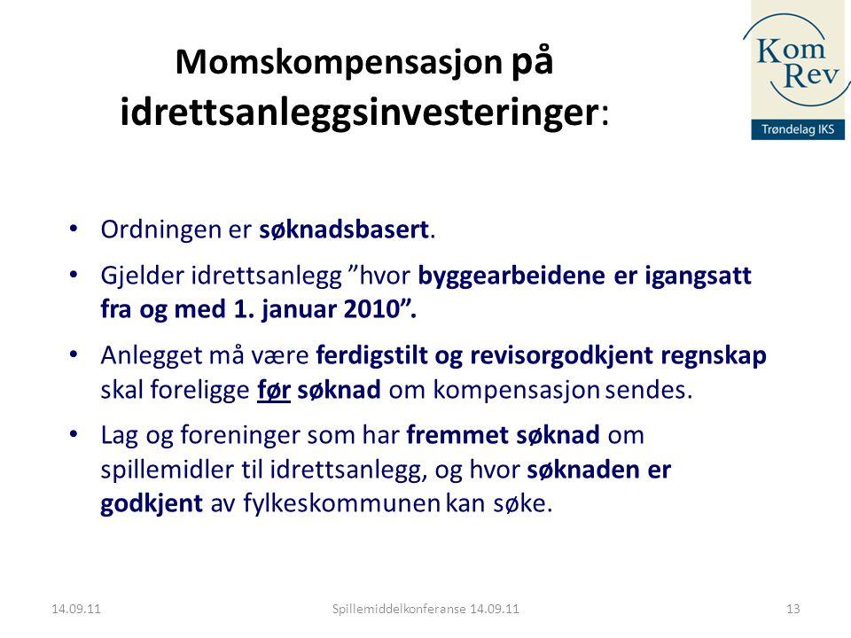 Momskompensasjon på idrettsanleggsinvesteringer: