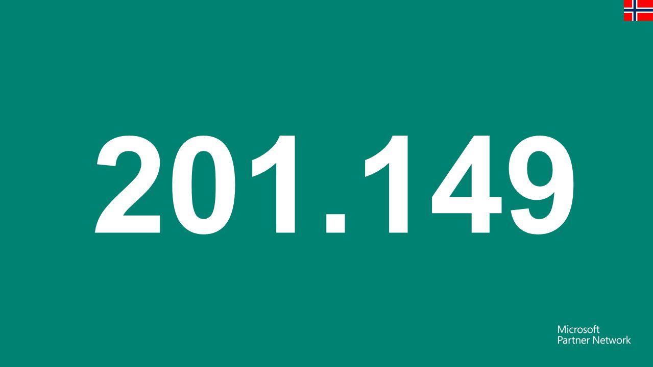 201.149 Bedrifter med ansatte Alle norske tall basert på SSB