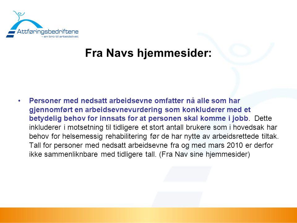 Fra Navs hjemmesider: