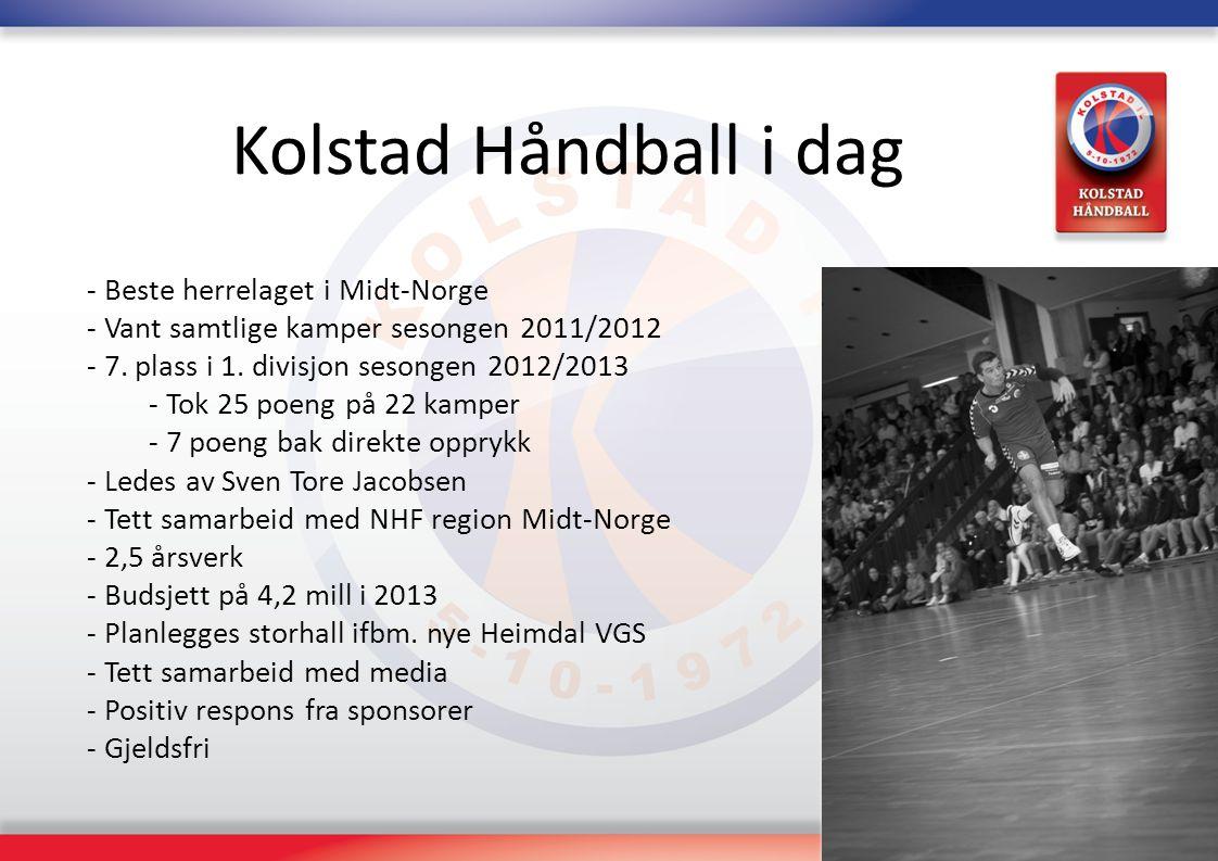 Kolstad Håndball i dag Beste herrelaget i Midt-Norge