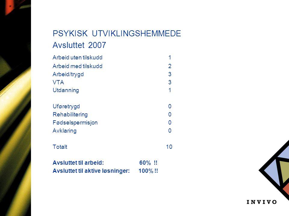 PSYKISK UTVIKLINGSHEMMEDE Avsluttet 2007