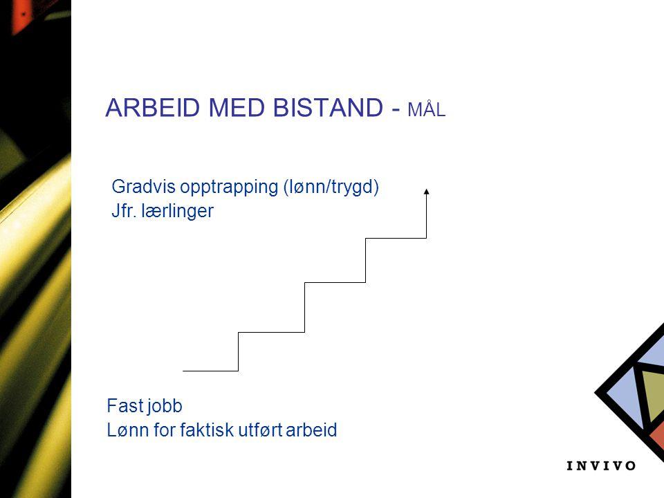 ARBEID MED BISTAND - MÅL