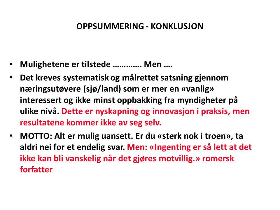 OPPSUMMERING - KONKLUSJON
