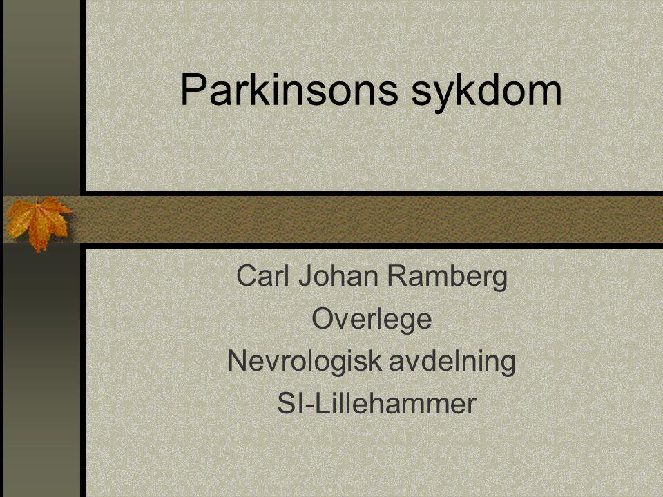 Carl Johan Ramberg Overlege Nevrologisk avdelning SI-Lillehammer