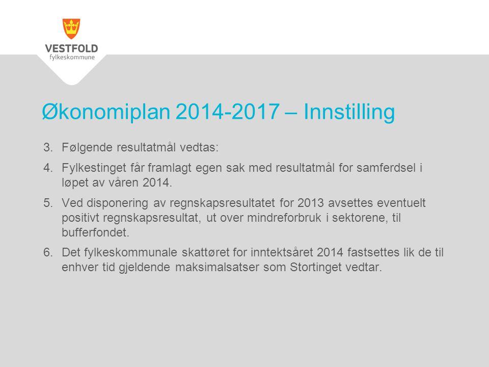 Økonomiplan 2014-2017 – Innstilling