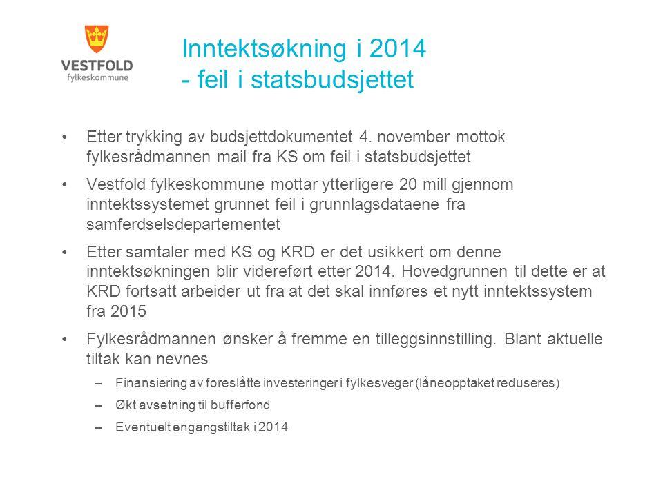 Inntektsøkning i 2014 - feil i statsbudsjettet