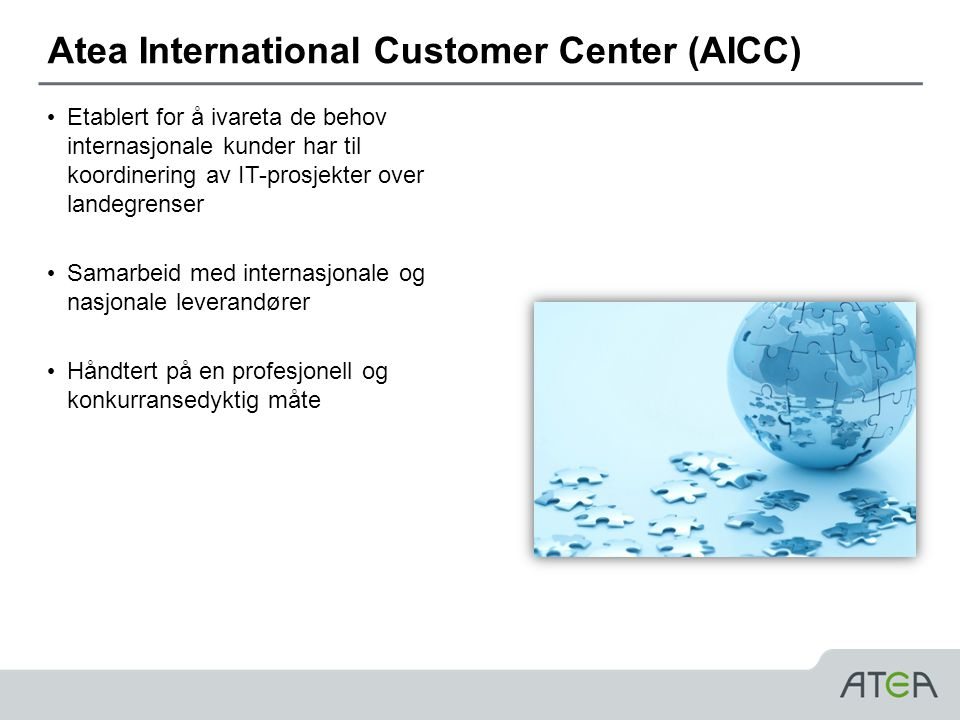 Atea International Customer Center (AICC)