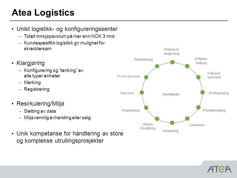 Atea Logistics Unikt logistikk- og konfigureringssenter Klargjøring
