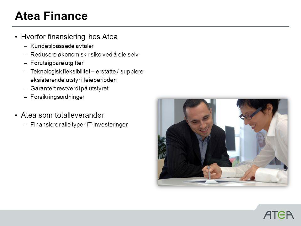 Atea Finance Hvorfor finansiering hos Atea Atea som totalleverandør