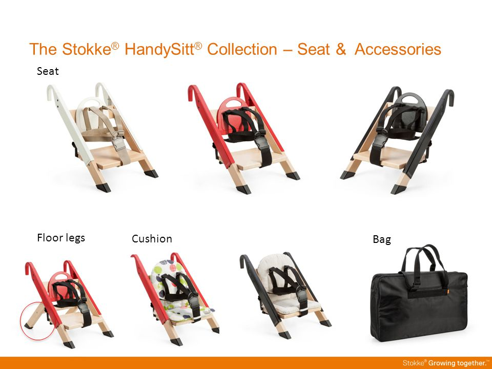 The Stokke® HandySitt® Collection – Seat & Accessories