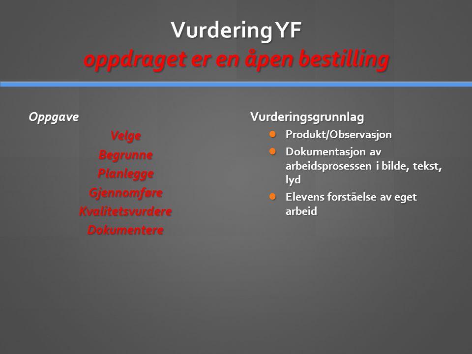 Vurdering YF oppdraget er en åpen bestilling