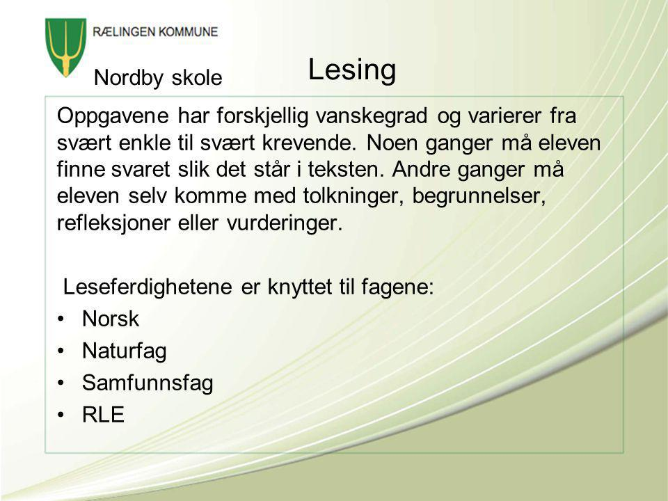 Lesing Nordby skole.