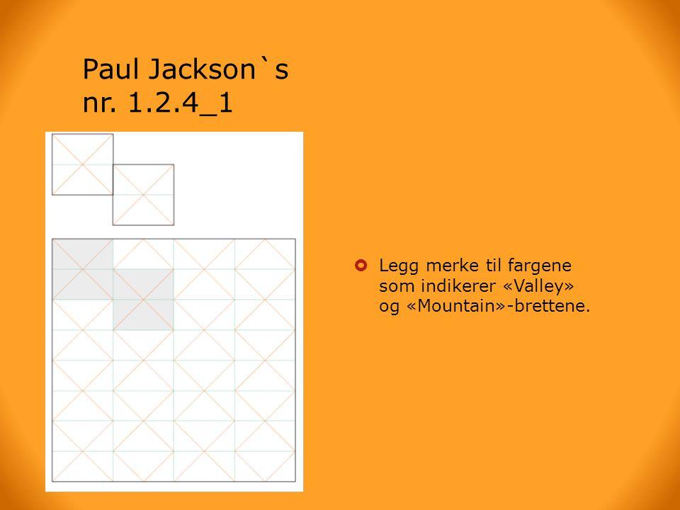 Paul Jackson`s nr. 1.2.4_1 Brettearket.