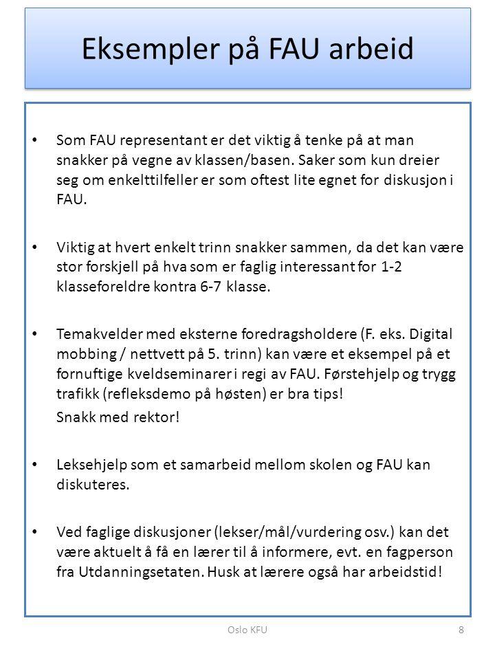 Eksempler på FAU arbeid