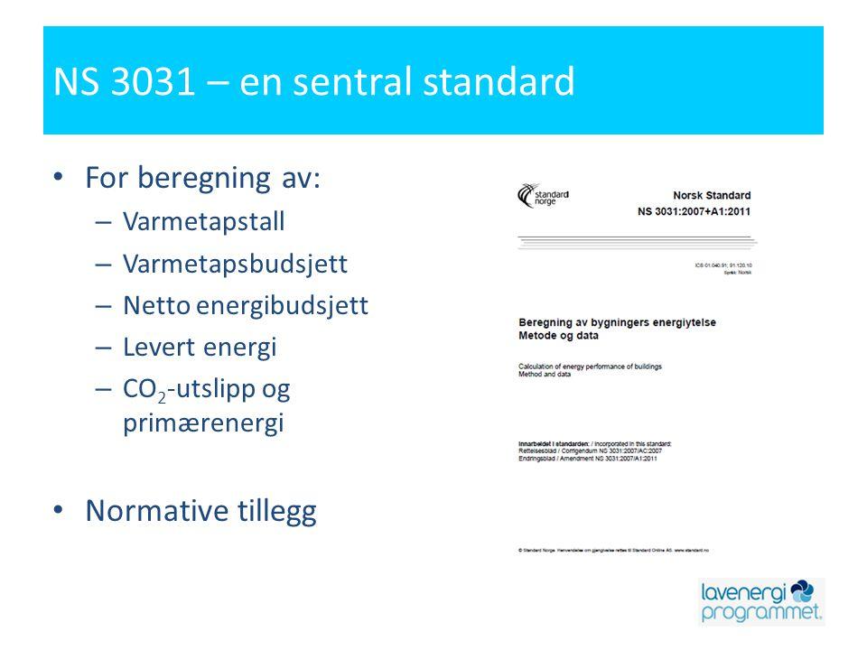 NS 3031 – en sentral standard