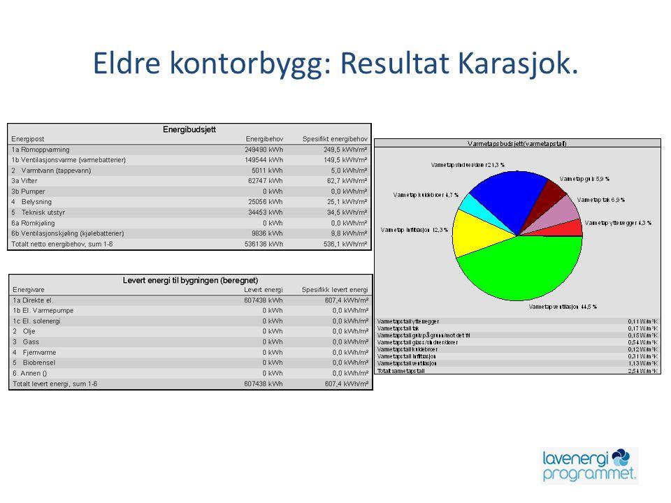 Eldre kontorbygg: Resultat Karasjok.