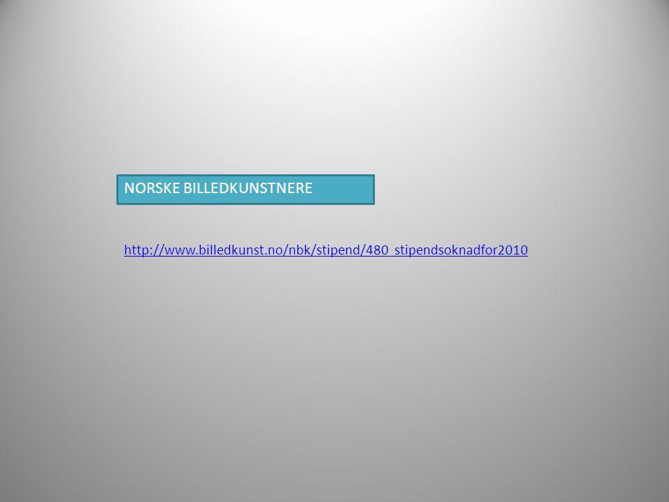 NORSKE BILLEDKUNSTNERE