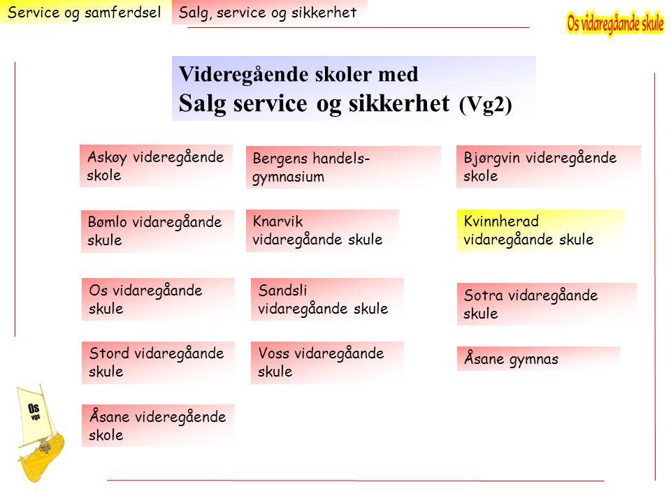 Videregående skoler med Salg service og sikkerhet (Vg2)