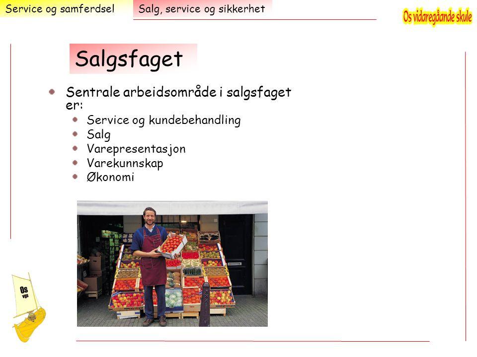 Salgsfaget Sentrale arbeidsområde i salgsfaget er: