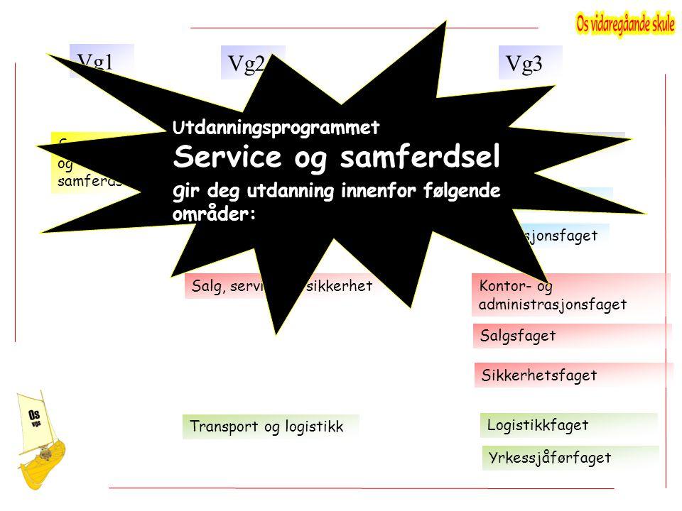 Service og samferdsel gir deg utdanning innenfor følgende områder: