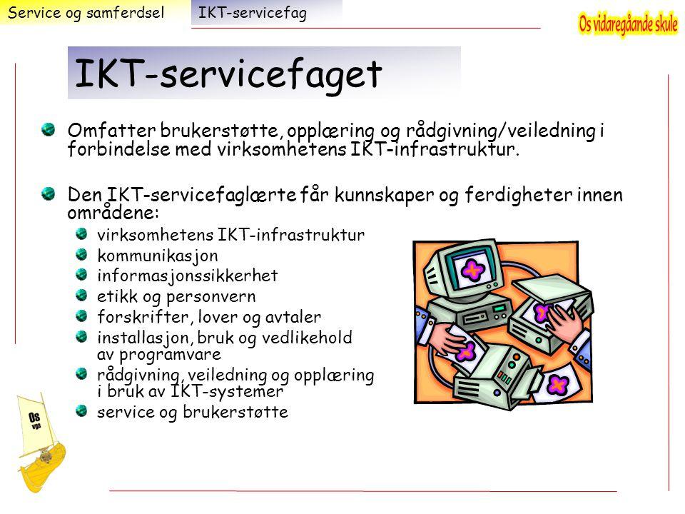 Service og samferdsel IKT-servicefag. IKT-servicefaget.