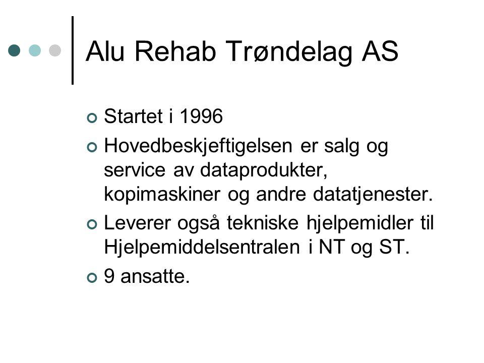 Alu Rehab Trøndelag AS Startet i 1996