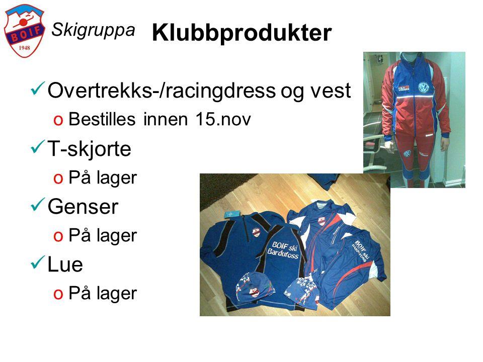 Klubbprodukter Overtrekks-/racingdress og vest T-skjorte Genser Lue