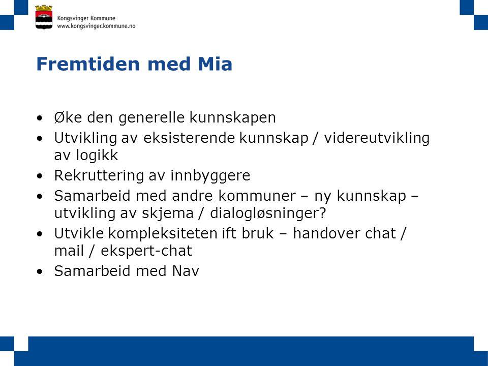 Fremtiden med Mia Øke den generelle kunnskapen