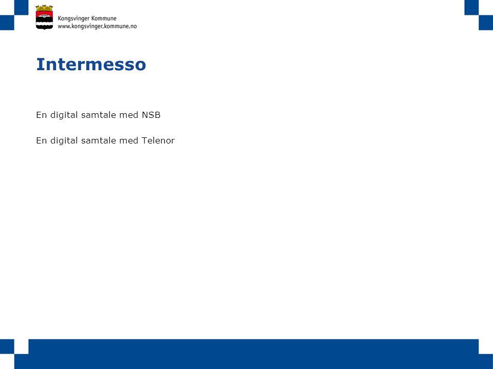 Intermesso En digital samtale med NSB En digital samtale med Telenor