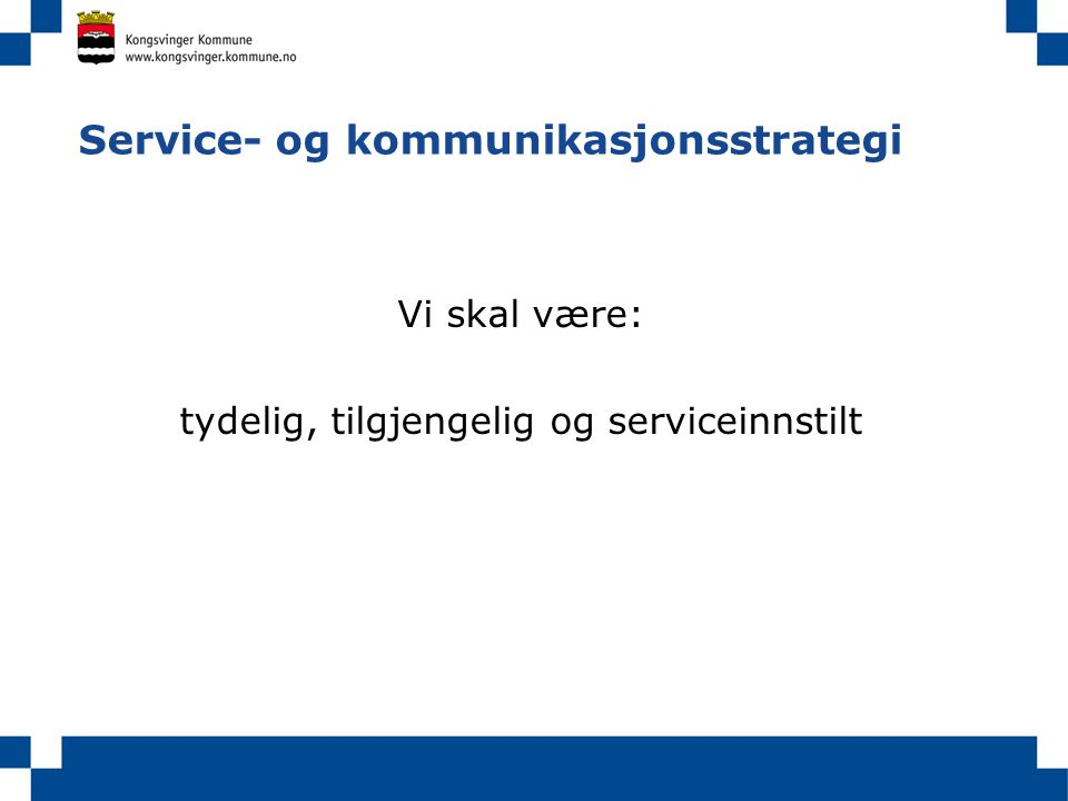 Service- og kommunikasjonsstrategi