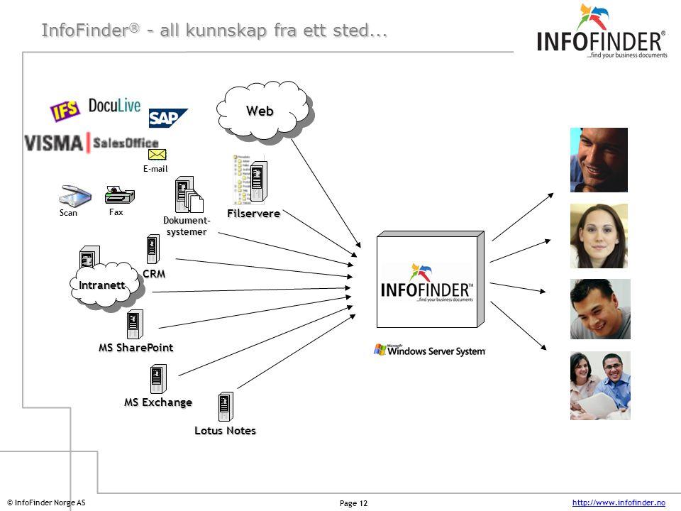 InfoFinder® - all kunnskap fra ett sted...