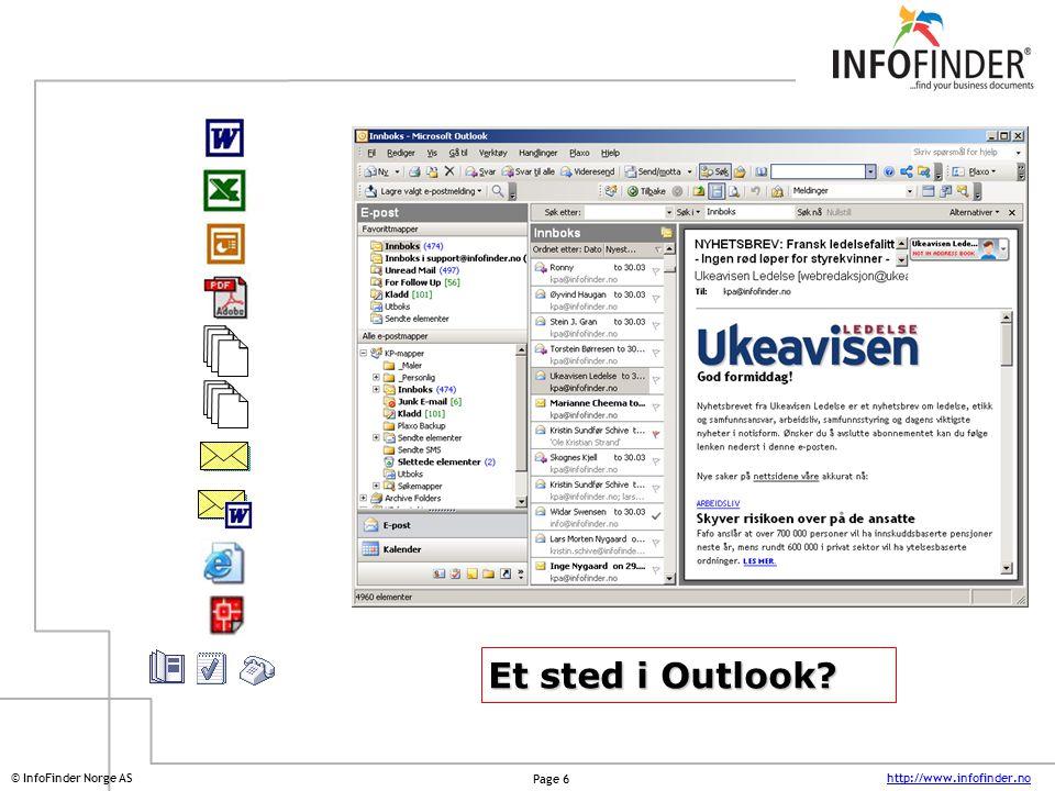 Et sted i Outlook