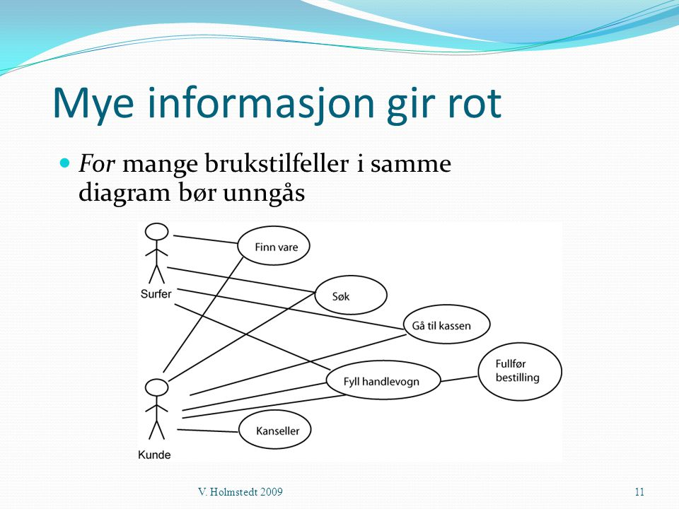 Mye informasjon gir rot