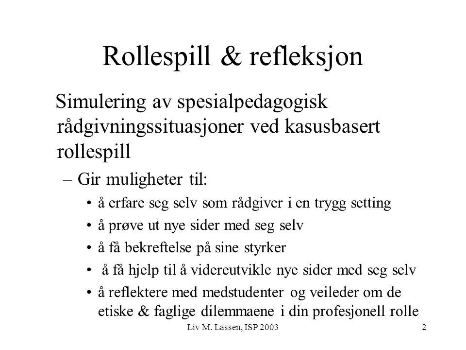 Rollespill & refleksjon