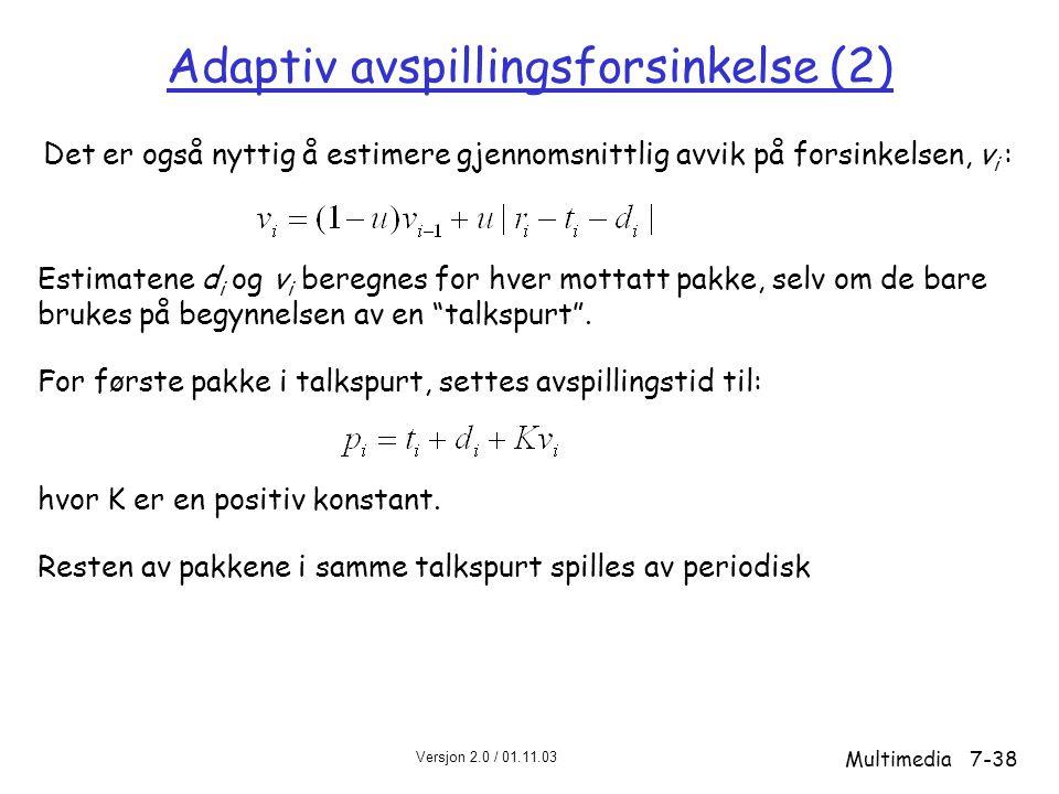 Adaptiv avspillingsforsinkelse (2)