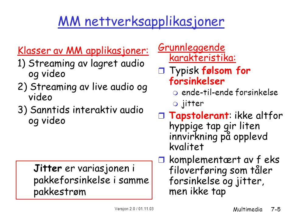 MM nettverksapplikasjoner