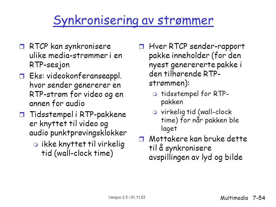 Synkronisering av strømmer