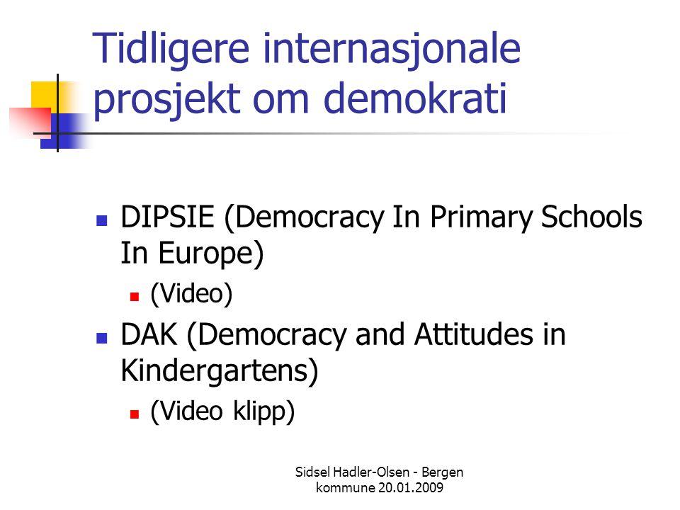 Tidligere internasjonale prosjekt om demokrati