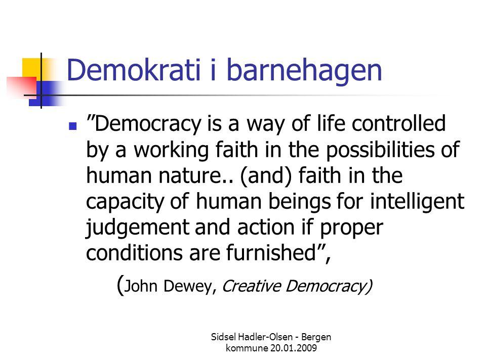 Demokrati i barnehagen