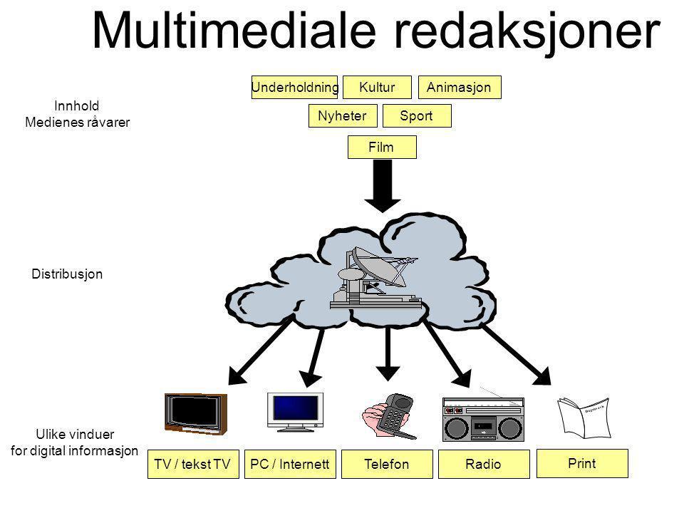 Multimediale redaksjoner