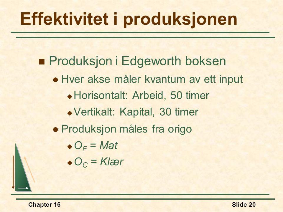 Effektivitet i produksjonen
