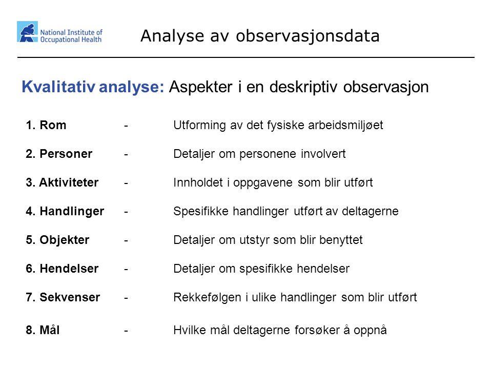 Analyse av observasjonsdata