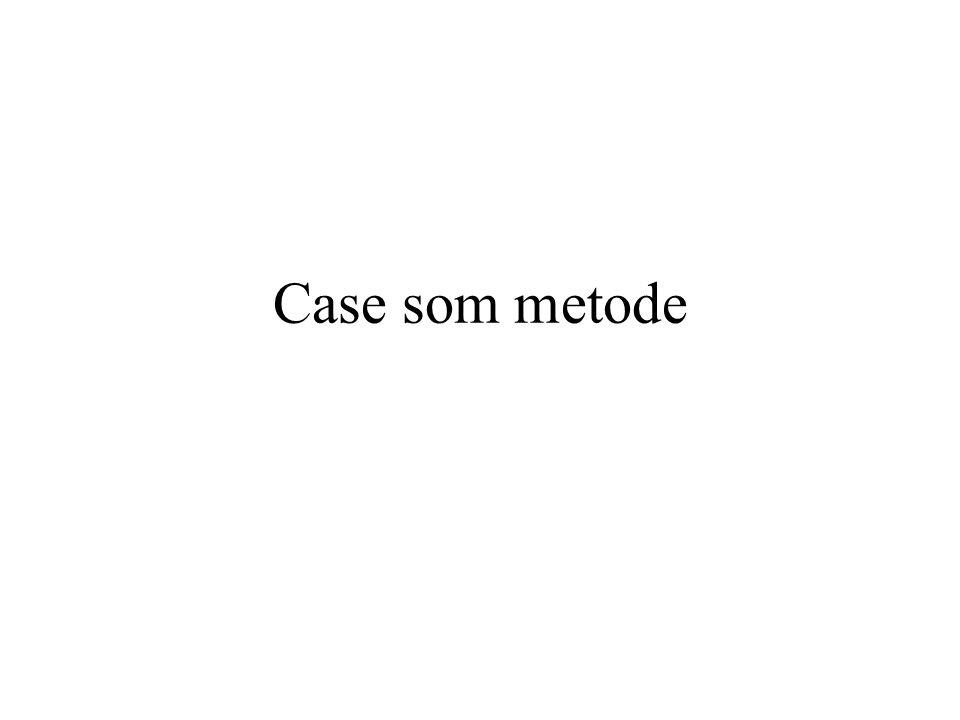 Case som metode