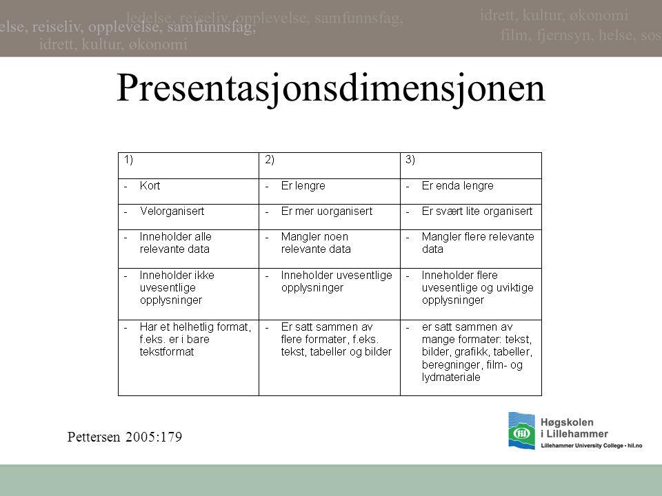 Presentasjonsdimensjonen