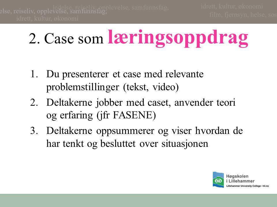 2. Case som læringsoppdrag