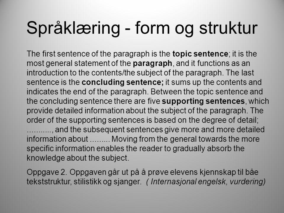 Språklæring - form og struktur